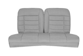Corbeau Mustang Rear Seat Upholstery Gray Cloth (79-93) Coupe