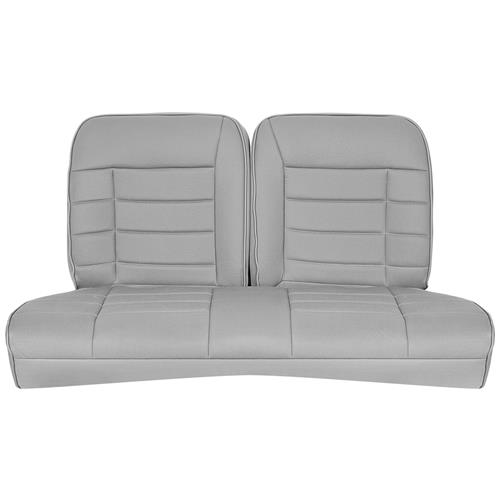 Corbeau Mustang Rear Seat Upholstery Gray Cloth (83-93) Convertible FB26509CV - Corbeau Mustang Rear Seat Upholstery Gray Cloth (83-93) Convertible FB26509CV