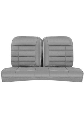Corbeau Mustang Rear Seat Upholstery Gray Cloth (84-93)