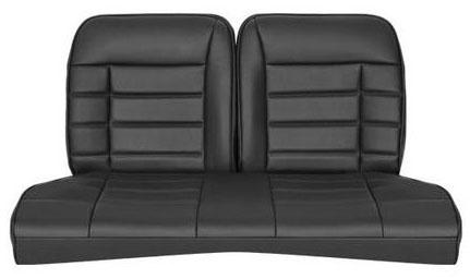 Corbeau Mustang Rear Seat Upholstery Black Vinyl (79-93) Coupe FB26510CP