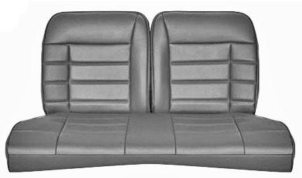 Corbeau Mustang Rear Seat Upholstery Gray Vinyl (79-93) Coupe FB26590CP