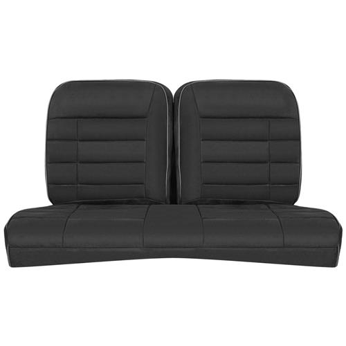 Corbeau Mustang Rear Seat Upholstery Black Microsuede (79-93) Coupe FBS26501-CP