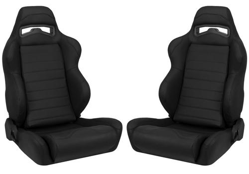 Corbeau Mustang LG1 Leather Seat Pair (79-14)