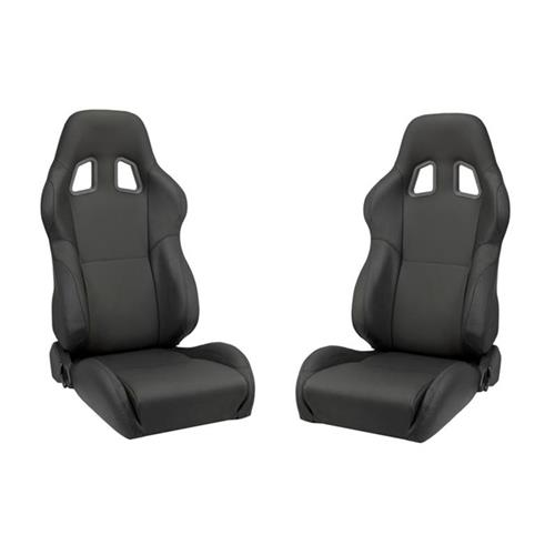 Corbeau Mustang A4 Seat Pair Black Leather L60091 - Corbeau Mustang A4 Seat Pair Black Leather L60091