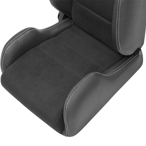 Corbeau Mustang GTS 2 Seat Pair Black Leather/Black Microsuede Inserts LS20301PR