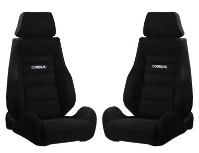 Picture of Corbeau Mustang GTS 2 Seat Pair  Black Microsuede