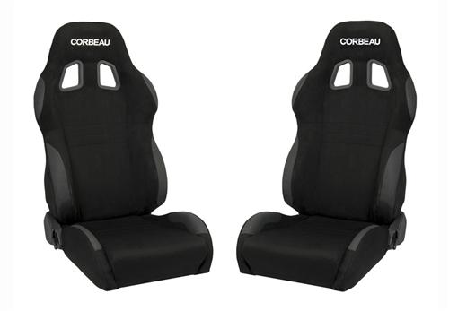 Picture of Corbeau Mustang A4 Wide Seat Pair Black Microsuede