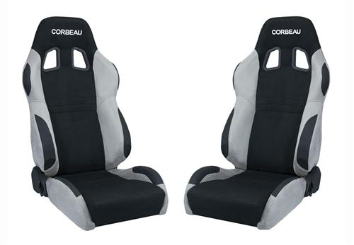 Picture of Corbeau Mustang A4 Seat Pair  Gray Microsuede/Black Microsuede Insert