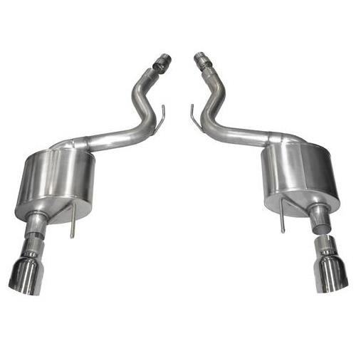 "Corsa Mustang 5.0L 3"" Sport Axle Back With 4.5"" Polished Tips (15-17) 14326"