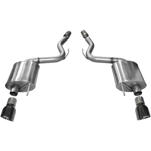 "2015-2016 FORD MUSTANG 5.0 3"" AXLEBACK W/ DUAL BLACK TIPS"