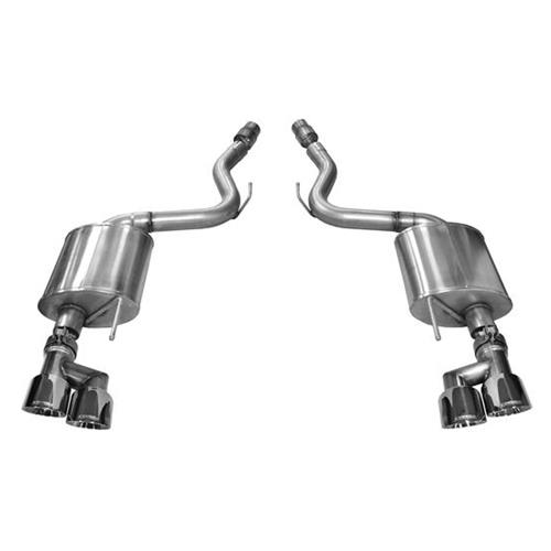 "Corsa Mustang 3"" Touring Axleback - Polished Quad Tips (15-17) 14336"