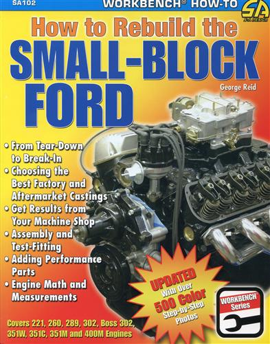 How To Rebuild The Small Block Ford Book SA102