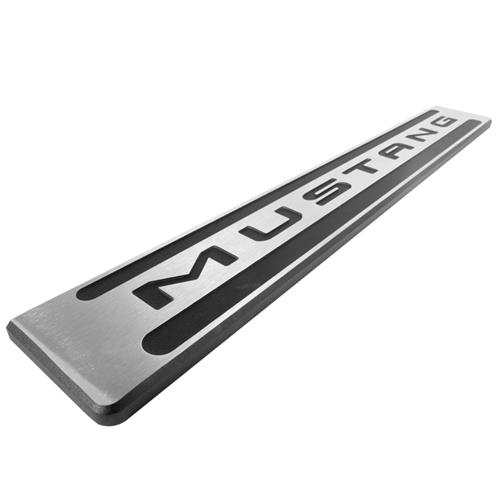 DefenderWorx Mustang Two Tone Door Sill Plates  - Brushed (15-17) 901379 - DefenderWorx Mustang Two Tone Door Sill Plates  - Brushed (15-17) 901379