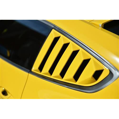 Mustang Defenderworx Quarter Window Louvers - Closed With Vent Stickers (15-16)