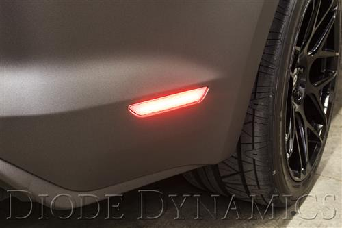 Diode Dynamics Mustang LED Rear Sidemarker - Clear Lens (15-16)