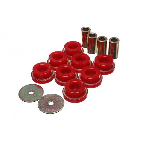 Energy Suspension Mustang IRS Subframe Bushing Set Red (2015) 4.4122R