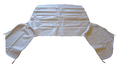 Electron Top Mustang Convertible Top  - White (83-90)  FO4162  OE19 WHITE TOP