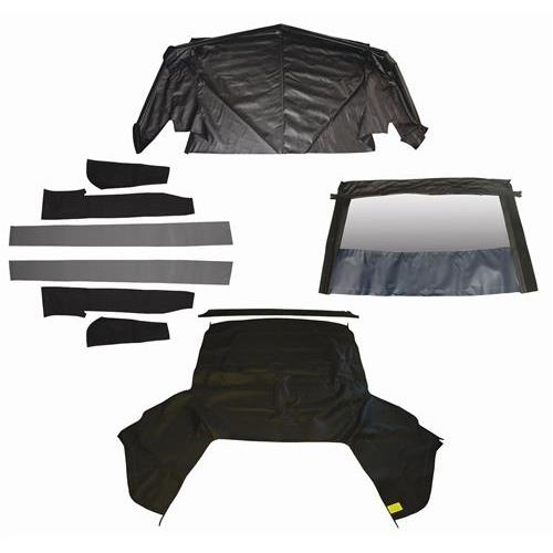 Mustang Convertible Top Kit - Black (83-90) - Mustang Convertible Top Kit - Black (83-90)