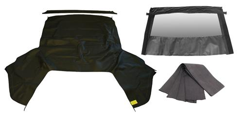 Mustang Black Convertible Top Kit w/ Defrost (01-04)