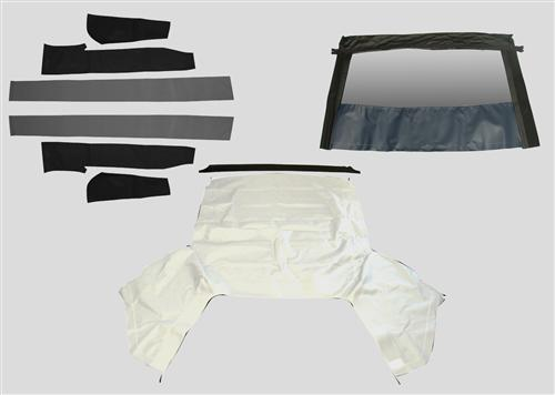 Mustang Economy Convertible Top Kit  - White (91-93)