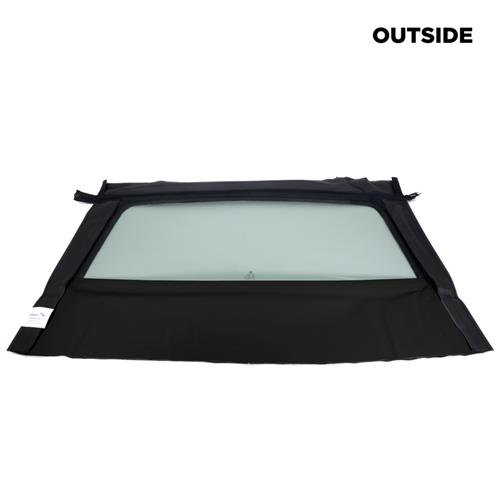 Mustang Convertible Glass Window Black w/o Defrost (94-95) HARD GLASS/BLK  ET218 TR01
