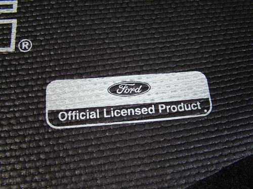 Mustang Fender Gripper Trunk Mat  with White Pony Logo (94-04) Coupe
