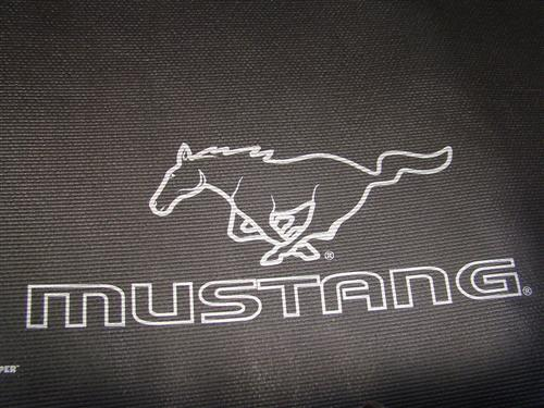 Mustang Fender Gripper Trunk Mat  with Silver Pony Logo  (94-04) Coupe SILVER/ PONY LOGO
