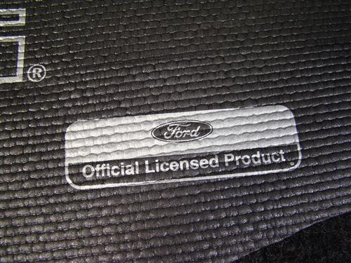 Mustang Fender Gripper Trunk Mat  with Silver Pony Logo  (94-04) Convertible CONV-SILVER-PONY LOGO/GRAY