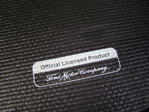 Mustang Fender Gripper Trunk Mat  w/ White Cobra Logo  (94-04) Coupe WHITE/COBRA LOGO