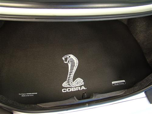 Mustang Fender Gripper Trunk Mat W White Cobra Logo 94