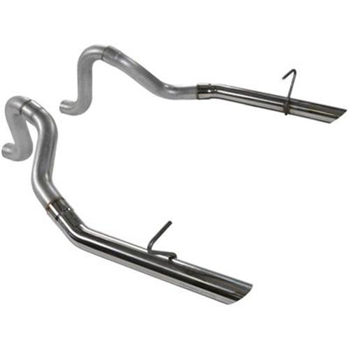 "Mustang Flowmaster 2.5"" Exhaust Tailpipes w/ Stainless Tips Aluminized (87-93) 5.0"