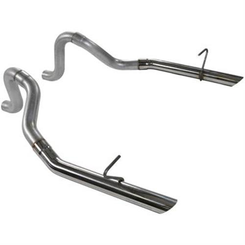 "Flowmaster Mustang 2.5"" Exhaust Tailpipes w/ Stainless Tips Aluminized (87-93) LX 5.0 15814"