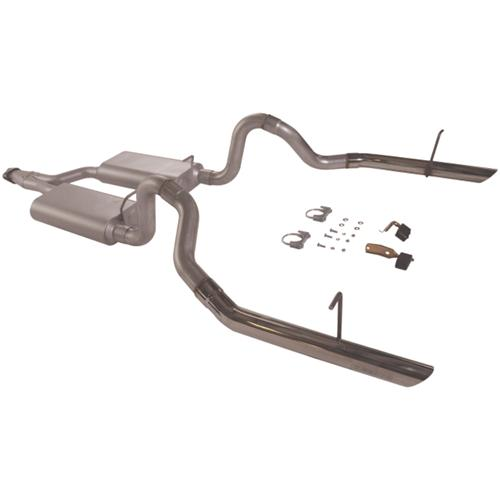 94-97 MUSTANG 3.8L V6 FLOWMASTER FORCE II CAT BACK EXHAUST SYSTEM