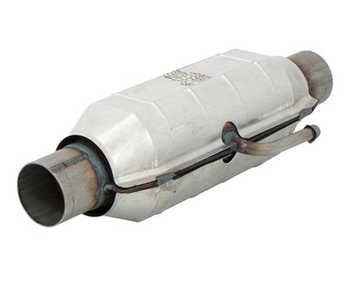 1986-1993 Mustang Flowmaster California Legal Catalytic Converter, CA EO # D-280-96,  Fits in Following locations on stock Mid-pipe RH Front LH Front RH Rear LH Rear