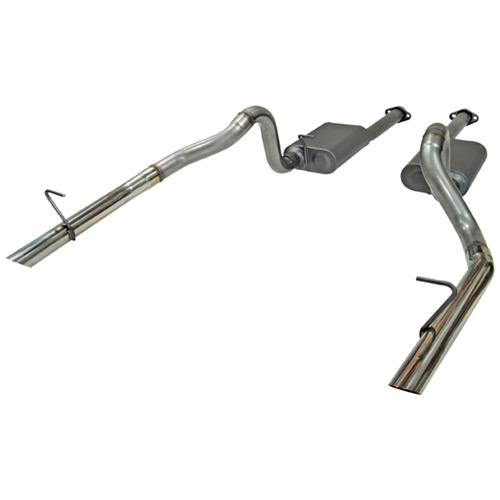 Flowmaster Mustang American Thunder Stainless Cat Back Exhaust Kit  (86-93) LX 5.0 817213