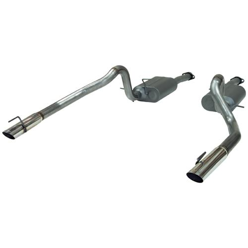 Flowmaster Mustang American Thunder Stainless Cat Back Exhaust Kit  (99-04) GT-Mach 1 817312