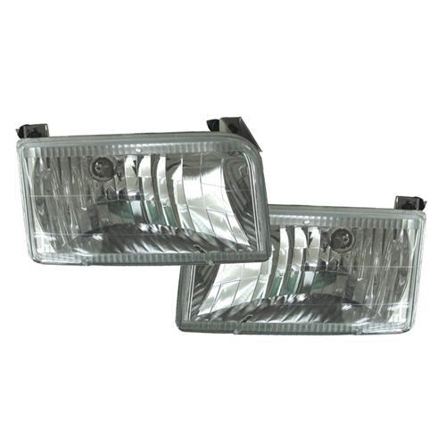 F-150 SVT Lightning Clear Diamond Headlights (93-95)