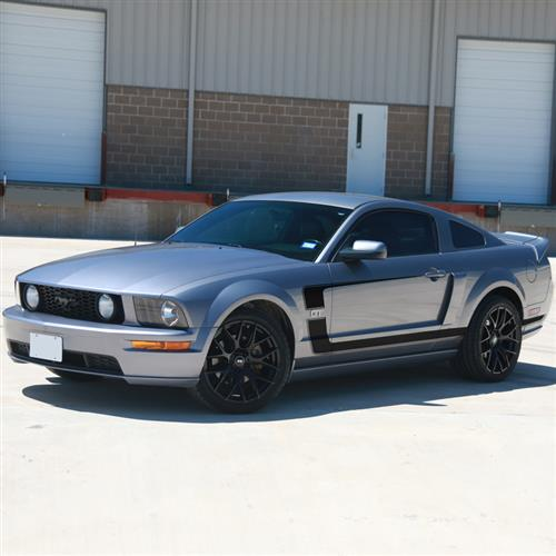 Graphic Express Mustang Boss Reverse 'C' Stripe Kit  - Black (05-09) GT