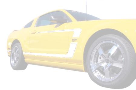 Graphic Express Mustang Boss Reverse 'C' Stripe Kit  - White (05-09) GT