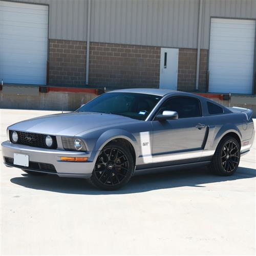 Graphic Express Mustang Side L-Stripe Kit  - White (05-09) GT