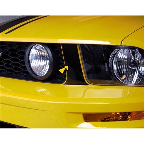 Graphic Express Mustang Front Grille Pillar Accent Decals  - Gloss Black (05-09) GT