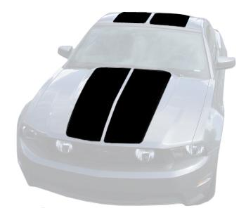 Mustang Lemans Stripe Kit (Hardtop) Black (10-12) K430-S10-BK