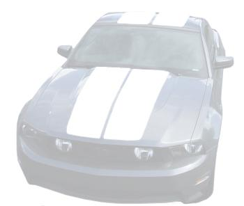 Mustang Lemans Stripes (Hardtop) White (10-12) K430-S10-WH