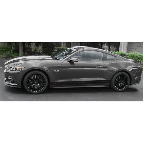 Mustang Side Stripe Kit W/ GT Cutout Gloss Black (15-16)