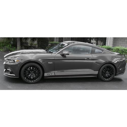 Mustang Side Stripe Kit W/ GT Cutout Metallic Silver (15-16)
