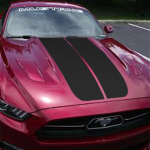 Mustang Dual Hood Stripes Gloss Black (15-16)