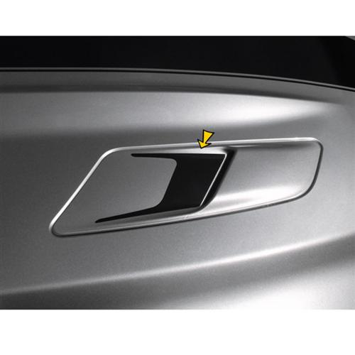 Mustang Sculptured Style Hood Vent Decal Pair Gloss Black (15-16)
