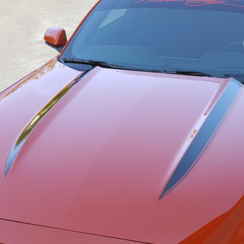 Mustang Cowl Hood Stripe Kit  - Gloss Black (15-17) K748-BK