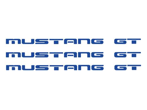 1987-93 Mustang GT Rear Bumper Insert Decals, Blue Also Gits GT Ground Effects