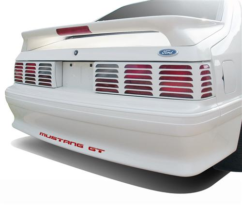 Mustang GT Rear Bumper Insert Decals Red (87-93)